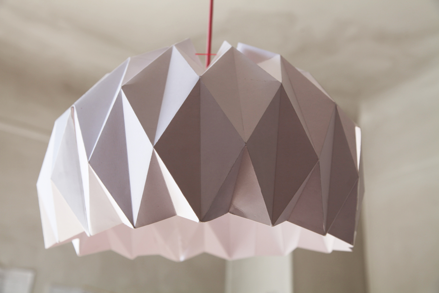 diy une jolie suspension origami lemonrock